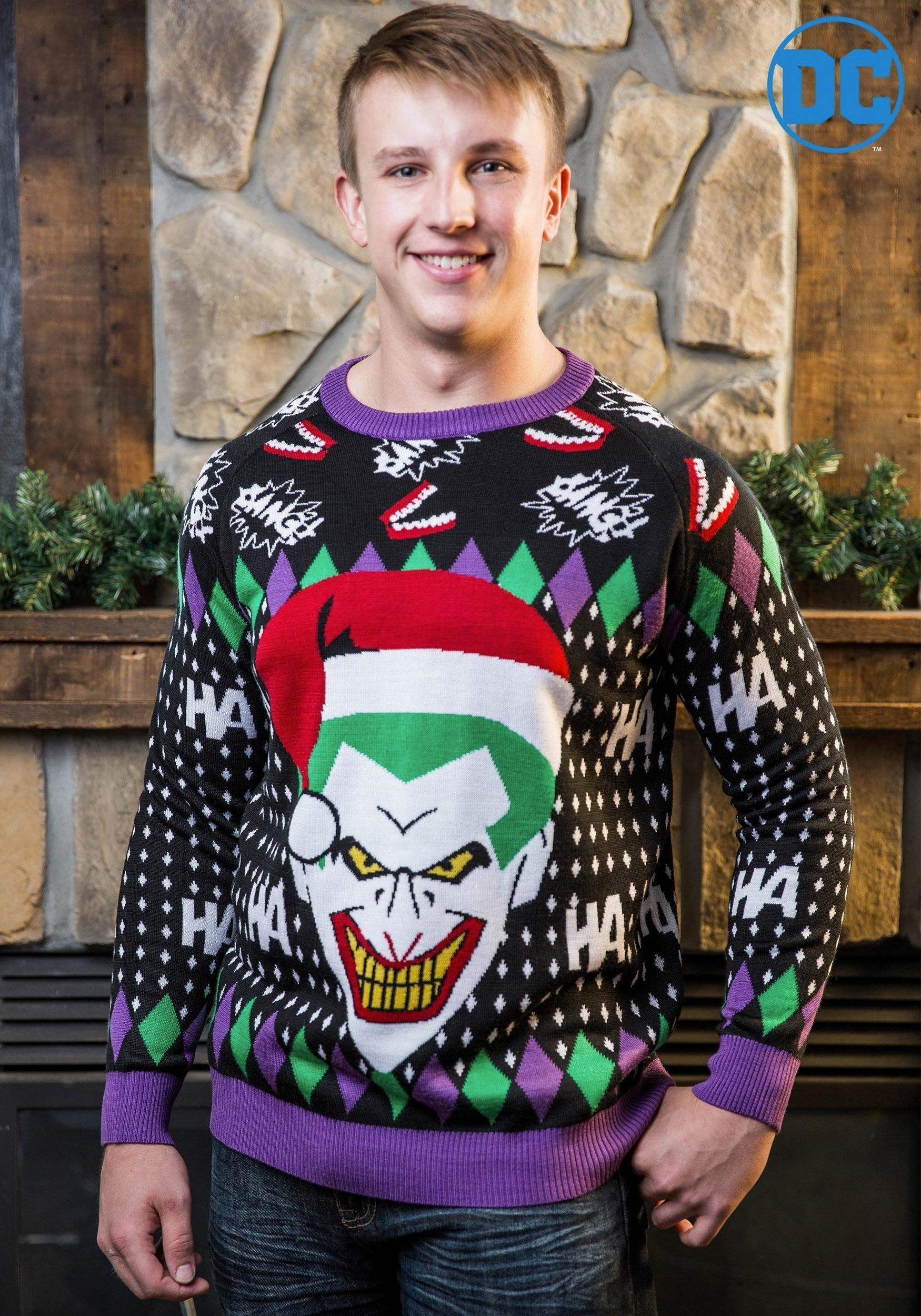 Joker Santa Sweater FUN9129