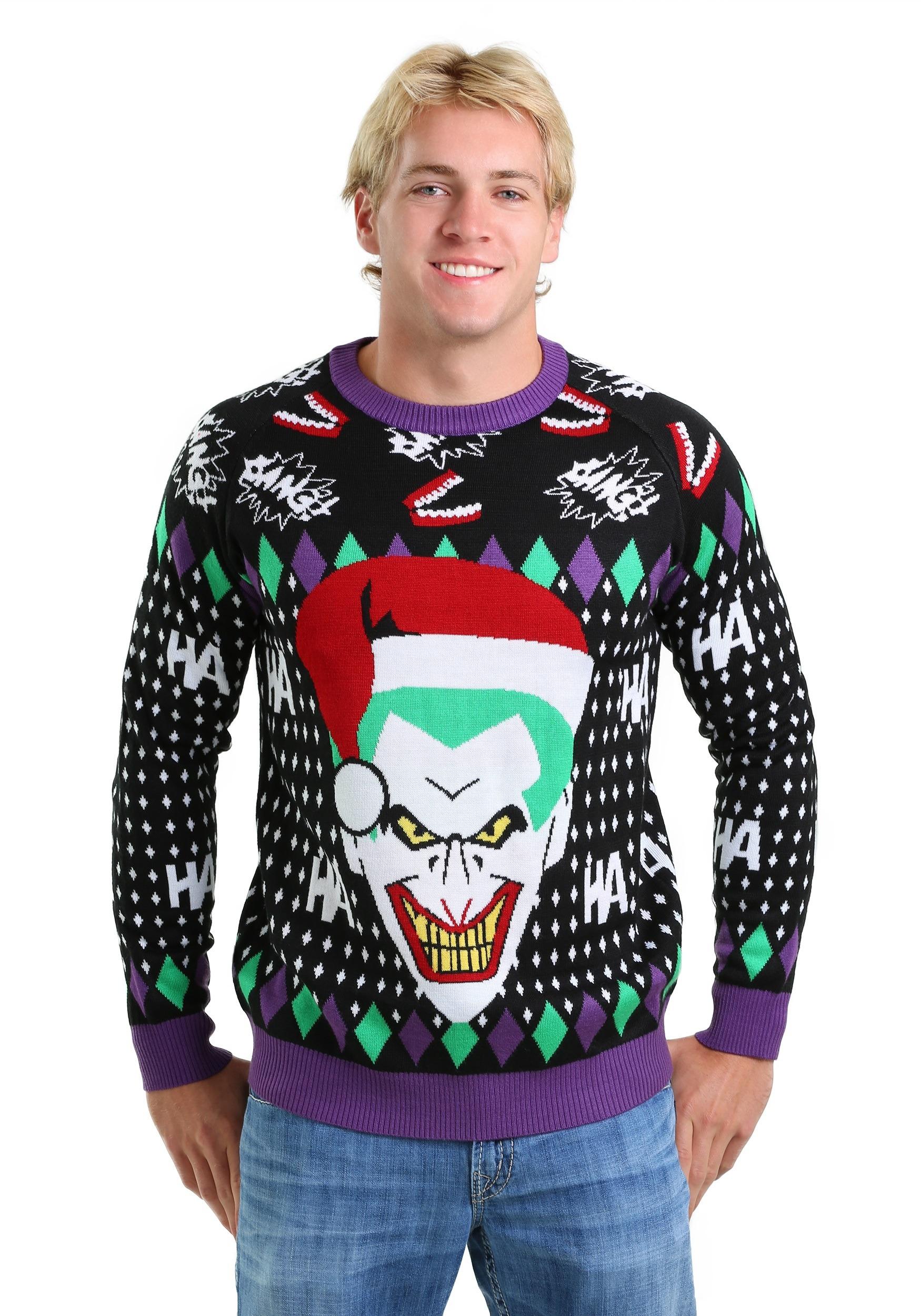 Joker Santa Ugly Christmas Sweater FUN9129