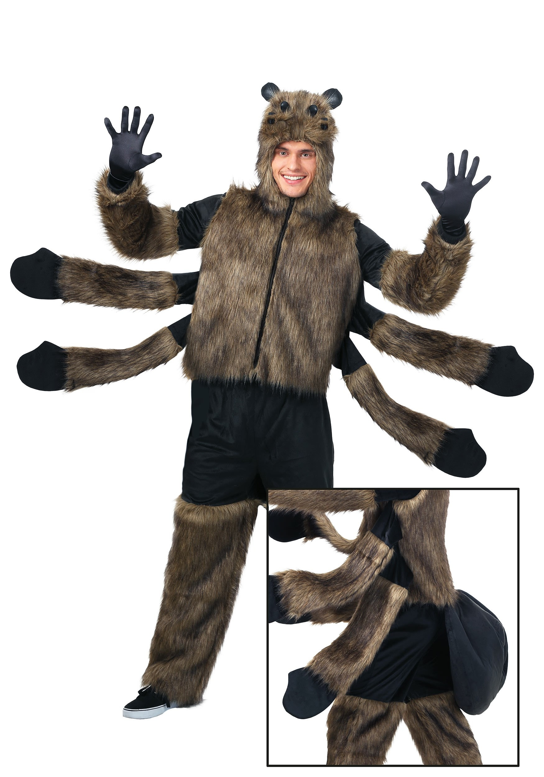 edc88bc0be7 Adult's Furry Spider Costume