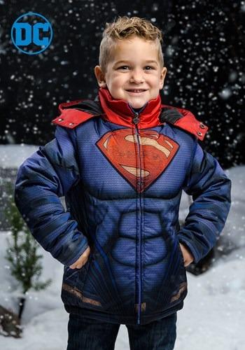Kids Superman Puffer Jacket upd