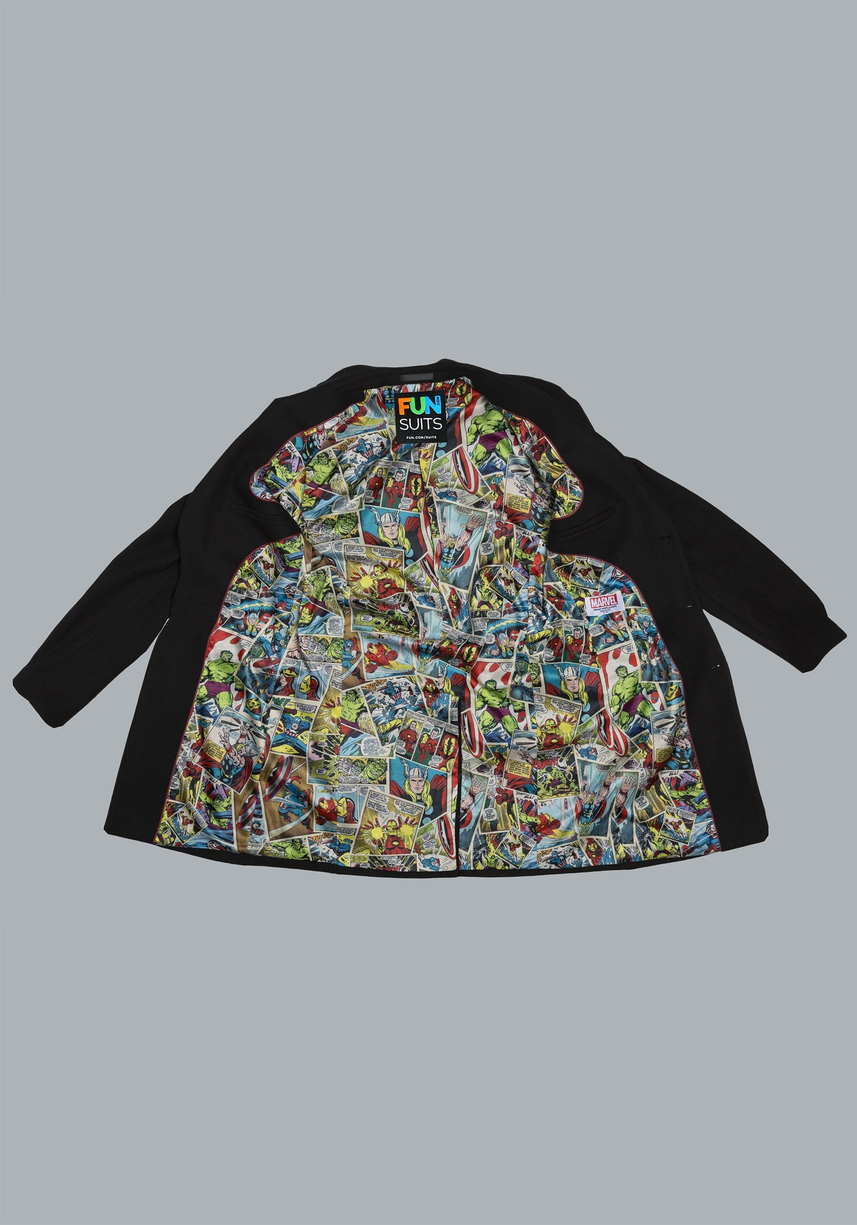 Marvel Comic Print Overcoat (Secret Identity)