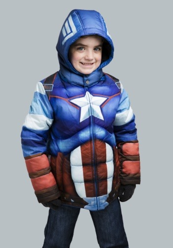 Kids Captain America Puffer Jacket 2