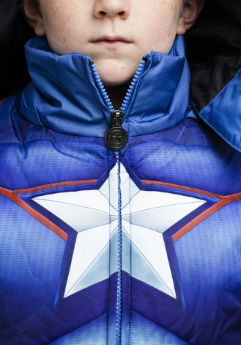 Kids Captain America Puffer Jacket 5