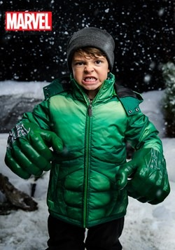 Kids Incredible Hulk Puffer Jacket upd