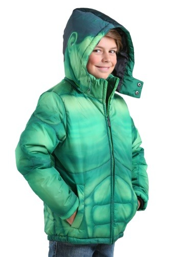 Kids Incredible Hulk Puffer Superhero Jacket