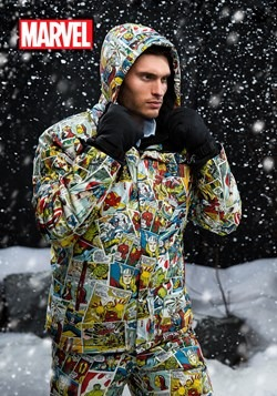 Marvel Comic Print Snow Jacket upd