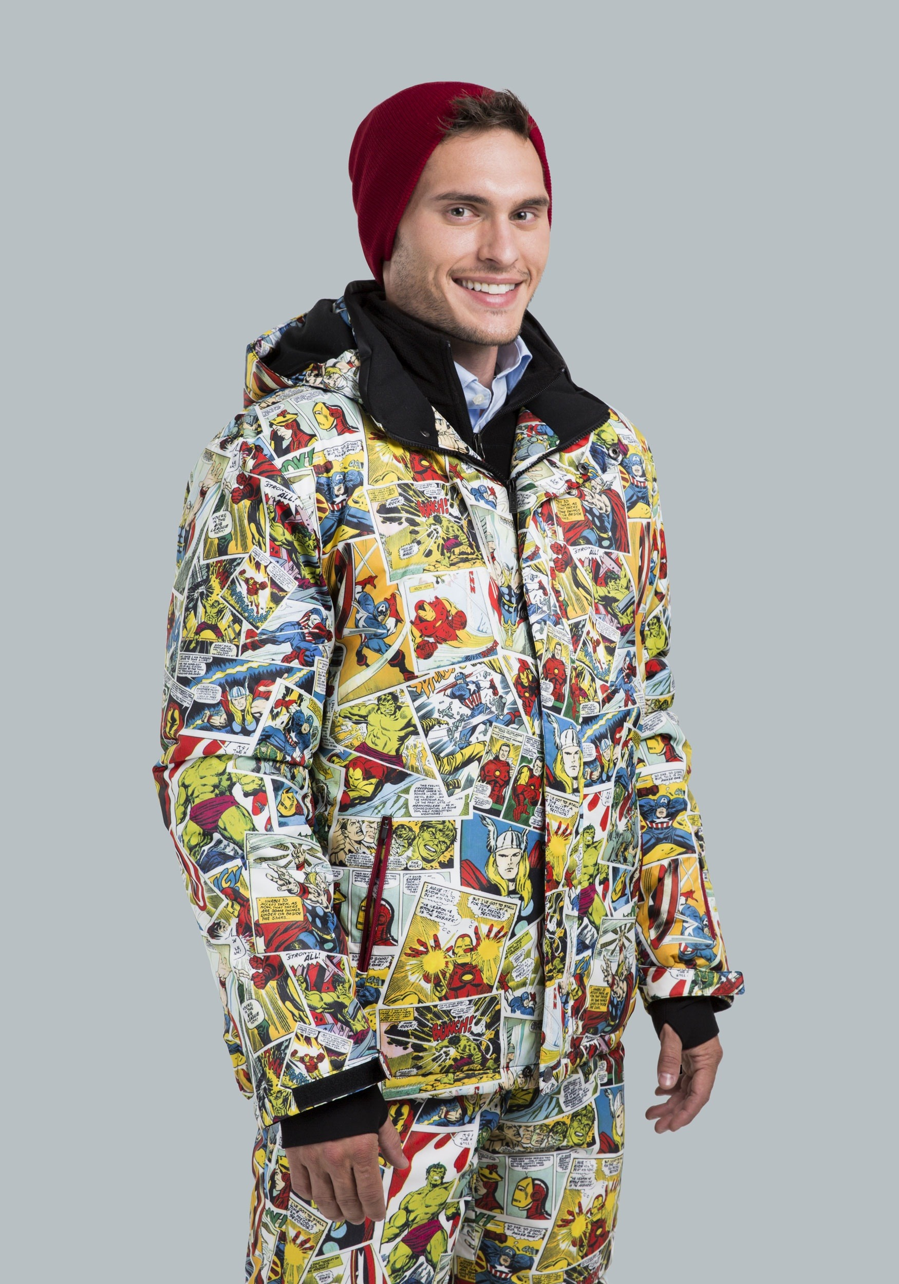Marvel Comic Print Superhero Snow Jacket