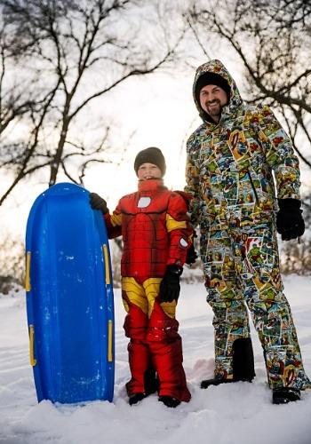 Marvel Comic Print Superhero Snow Jacket2