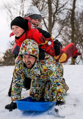 Marvel Comic Print Superhero Snow Jacket3