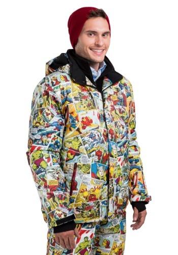 Adult Marvel Retro Comic Print Snowboard Jacket FUN9062AD