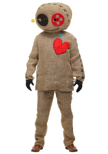 Burlap Voodoo Doll Adult Costume