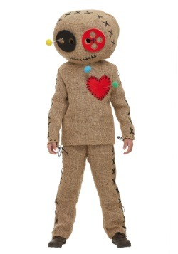 Kid's Burlap Voodoo Doll Costume