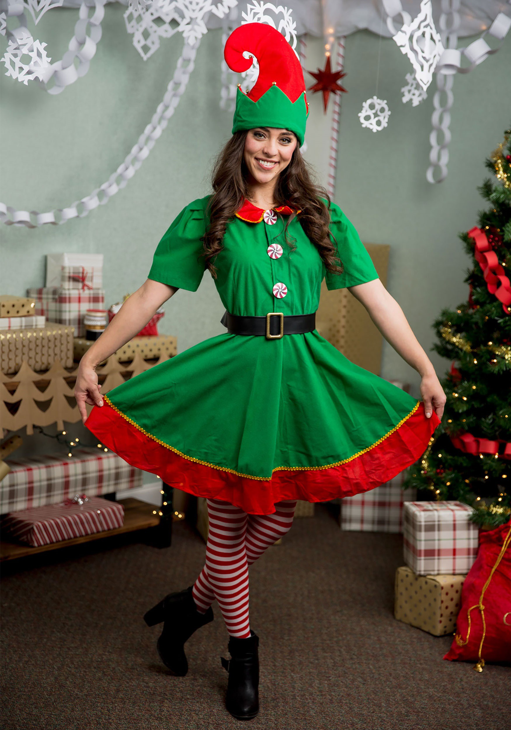 Holiday Elf Plus Size Costume Holiday Elf Plus Size Costume ...  sc 1 st  Fun.com & Holiday Elf Costume for Plus Size