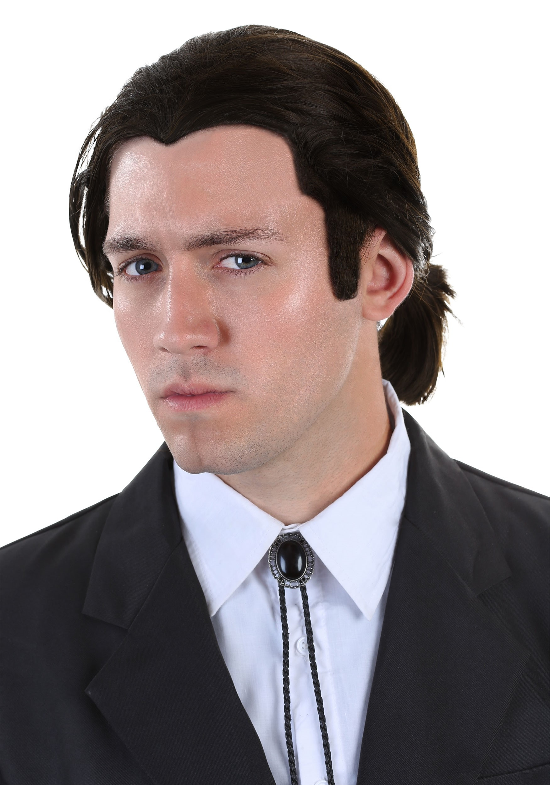 Vincent vega wig and bolo tie set from pulp fiction alt 1