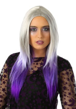 Women's Purple And Grey Ombre Wig