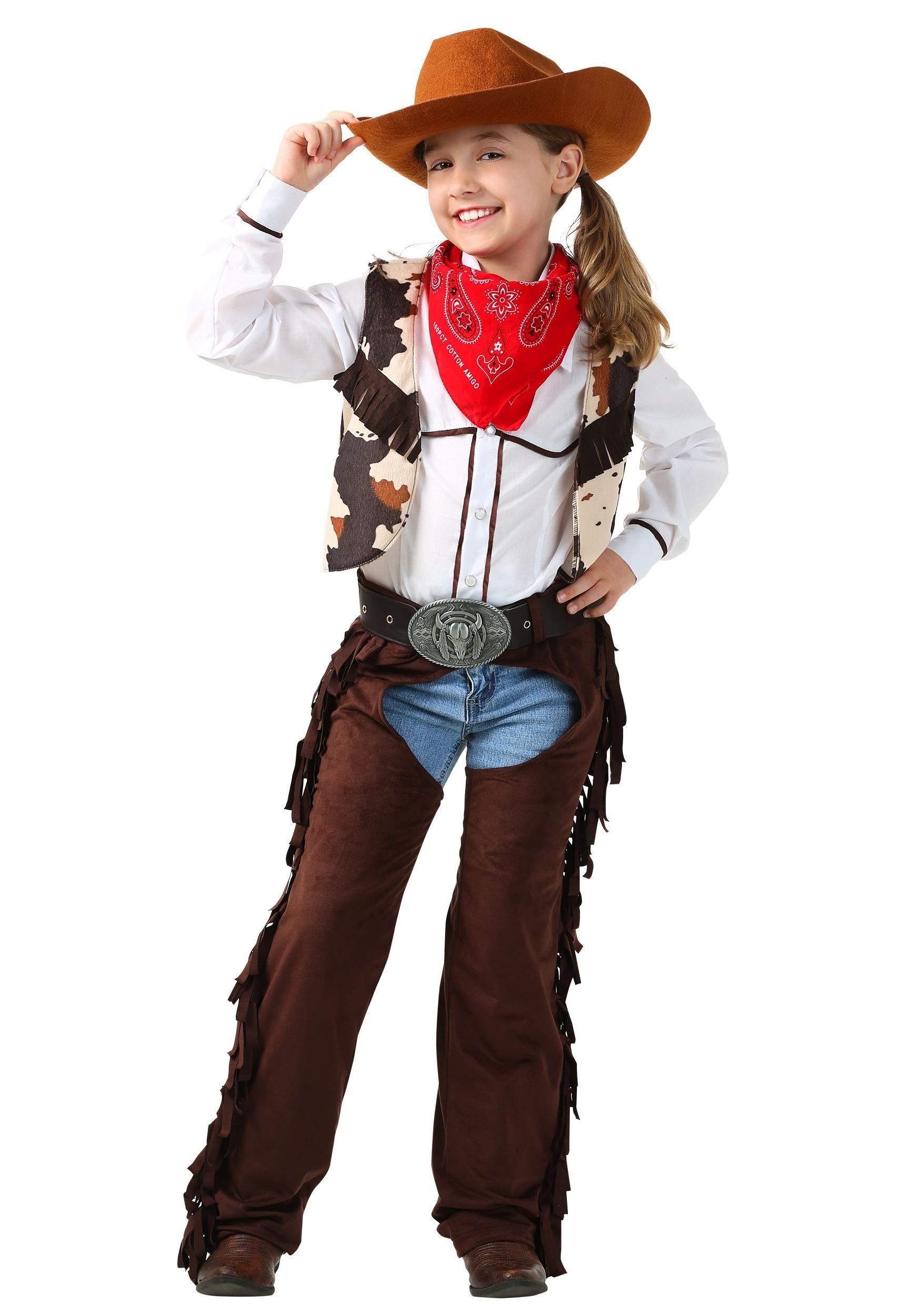 ce410e486b9099 Child Cowgirl Chaps Costume