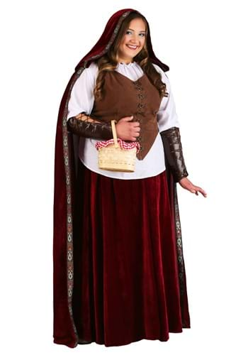 Deluxe Plus Size Red Riding Hood Costume revert