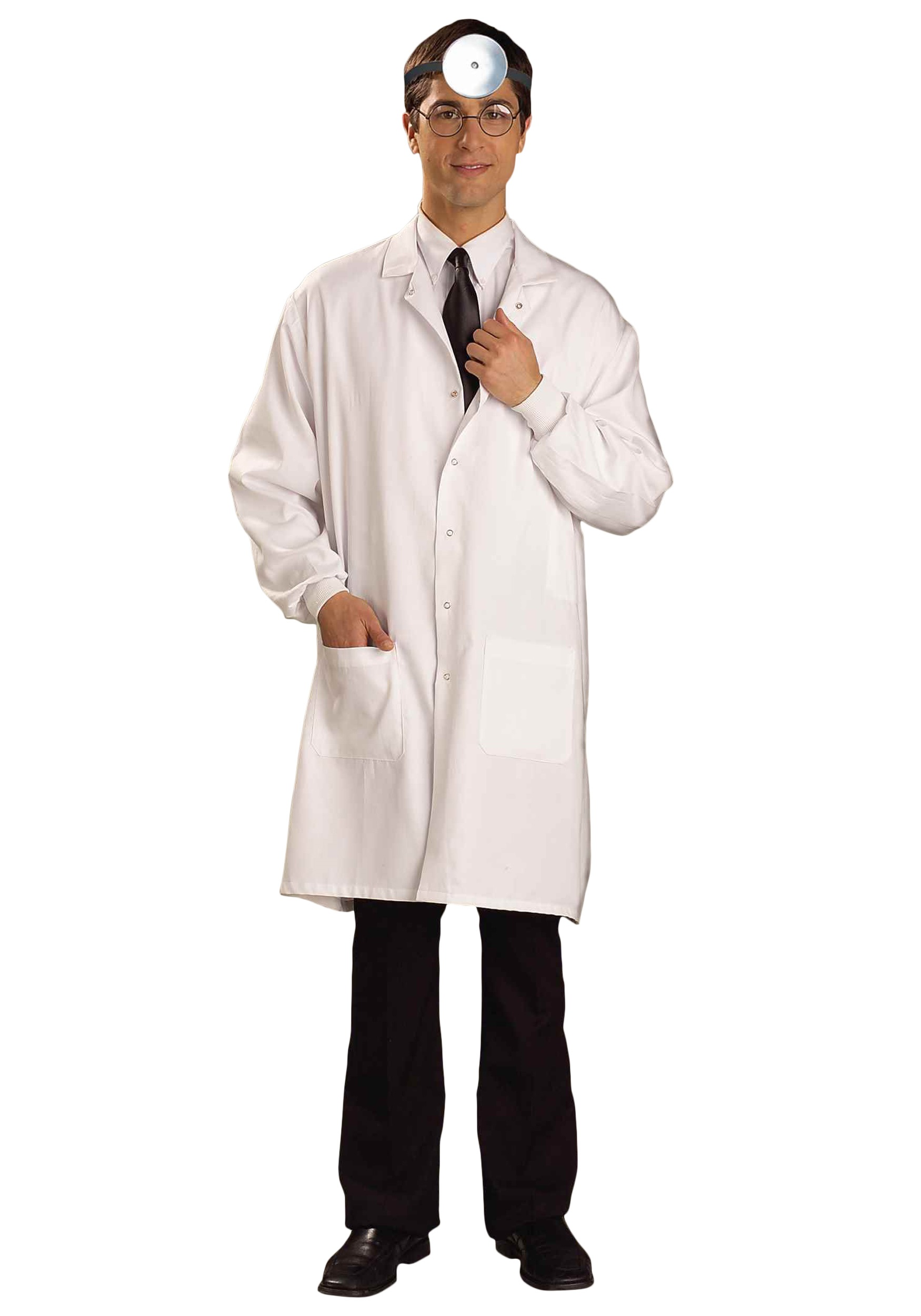 white doctor lab coat costume for adult size