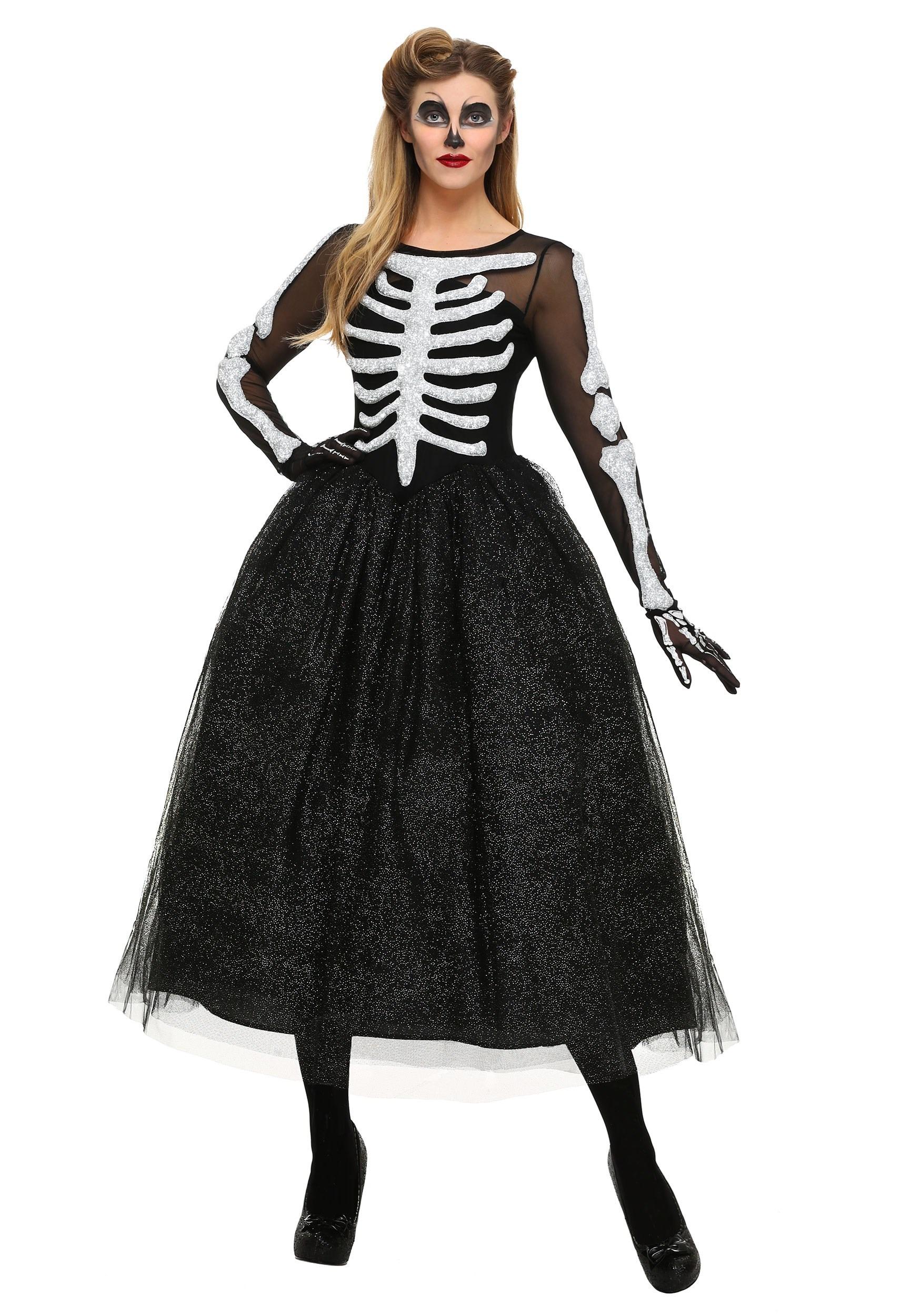 Skeleton Beauty Plus Size Costume for Women