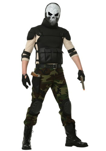 Skull Military Man Costume For Men