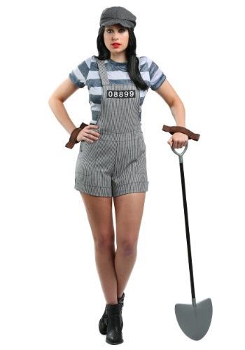 Chain Gang Prisoner Costume For Women