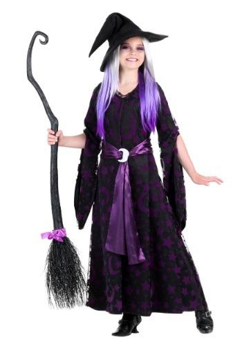 Purple Moon Witch Girls Costume