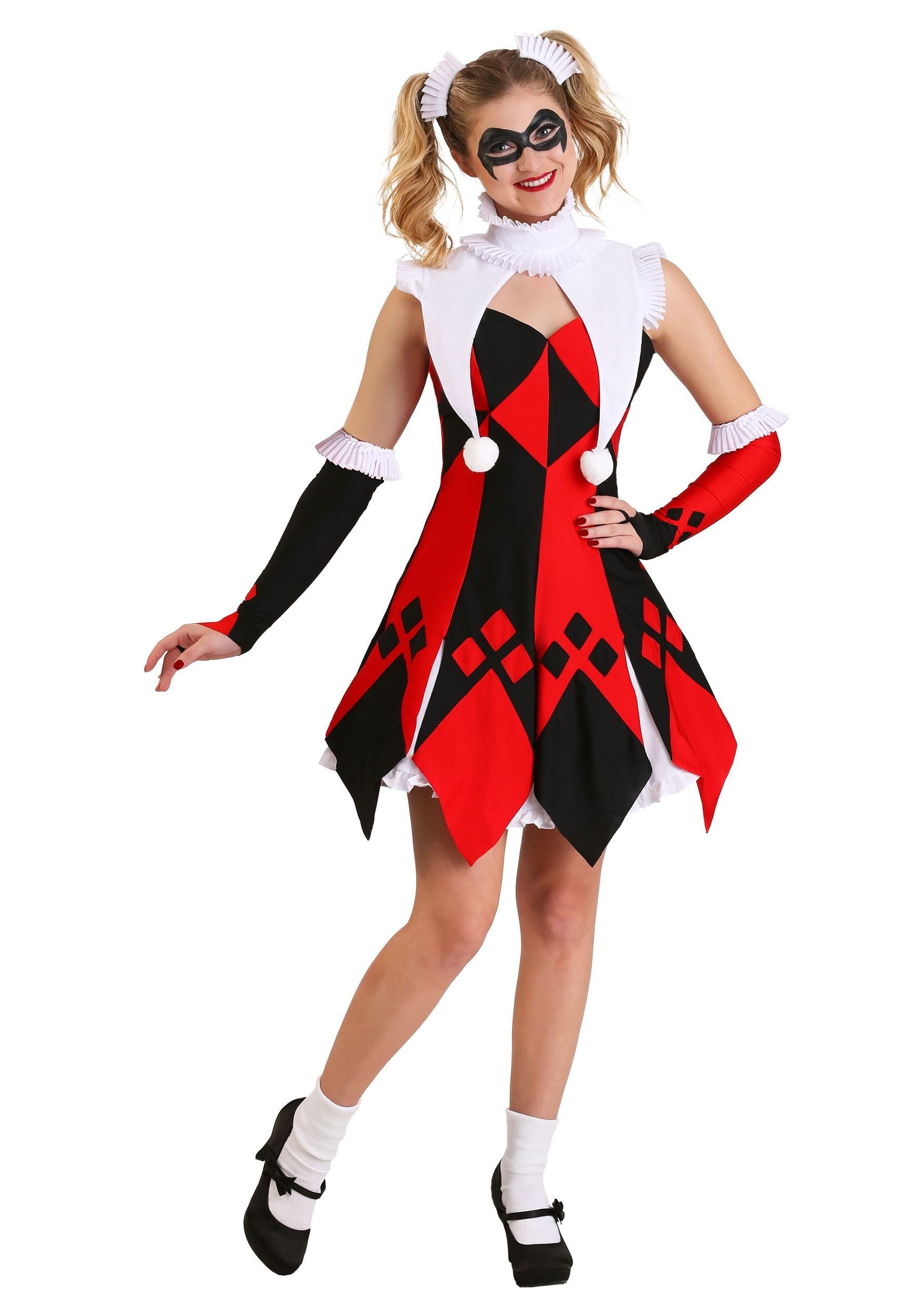 Cute Court Jester Plus Size Costume For Women