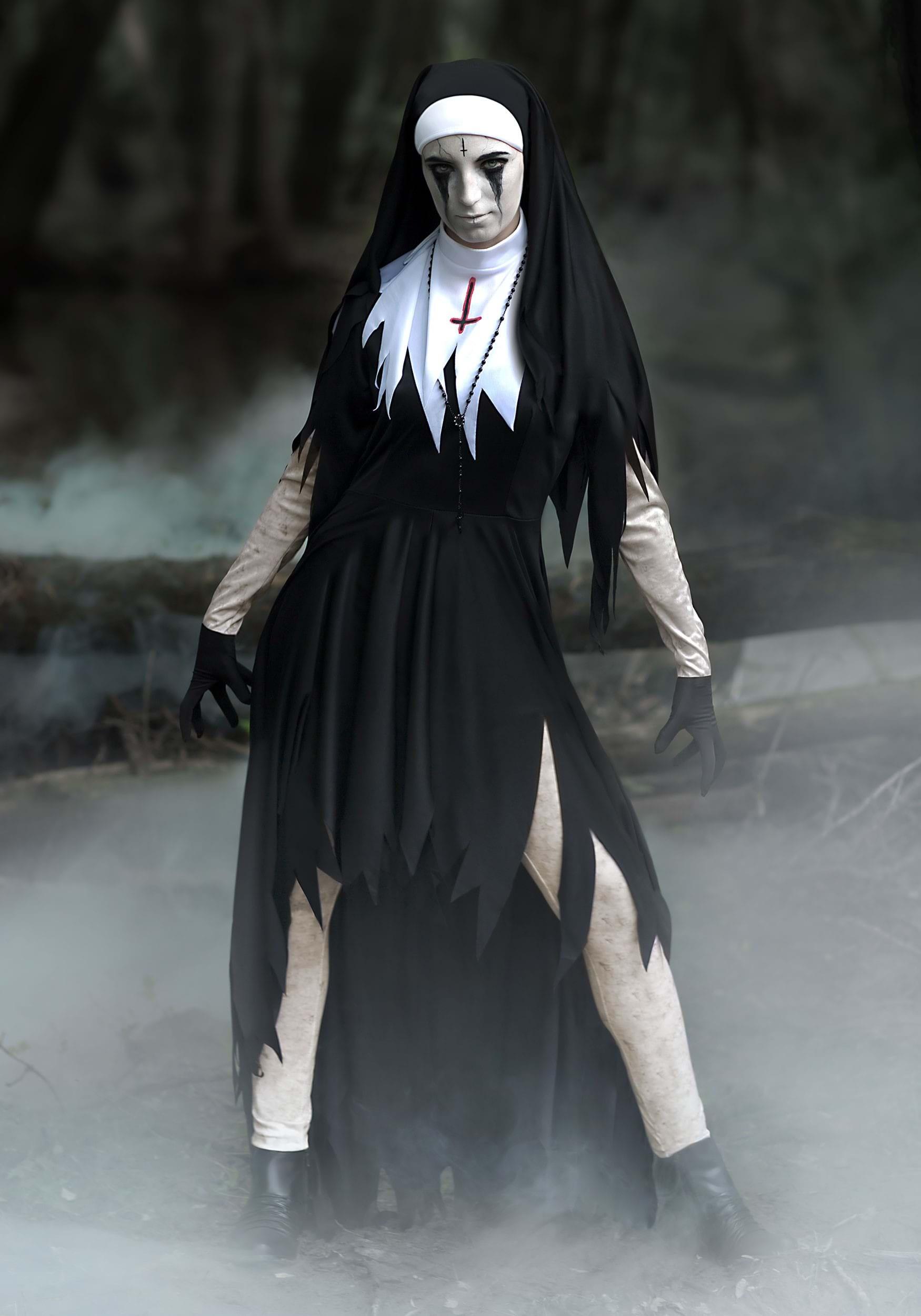 Dreadful Nun Womenu0027s Costume  sc 1 st  Fun.com & Dreadful Nun Costume for Women