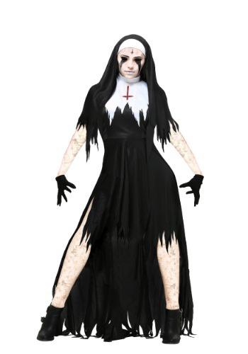 Plus Size Women's Dreadful Nun Costume FUN2197PL