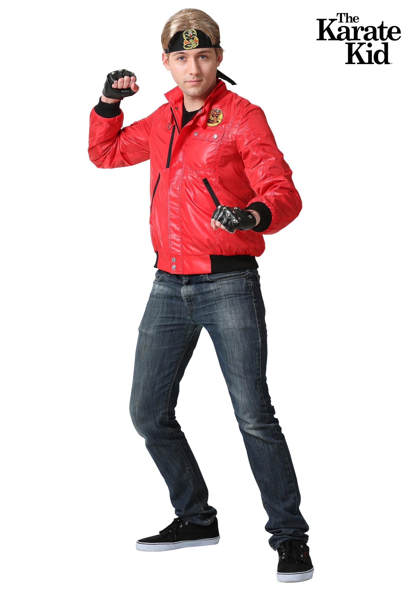 Karate Kid Red Cobra Kai Jacket Costume For Men