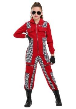 Girl's Racer Jumpsuit Costume
