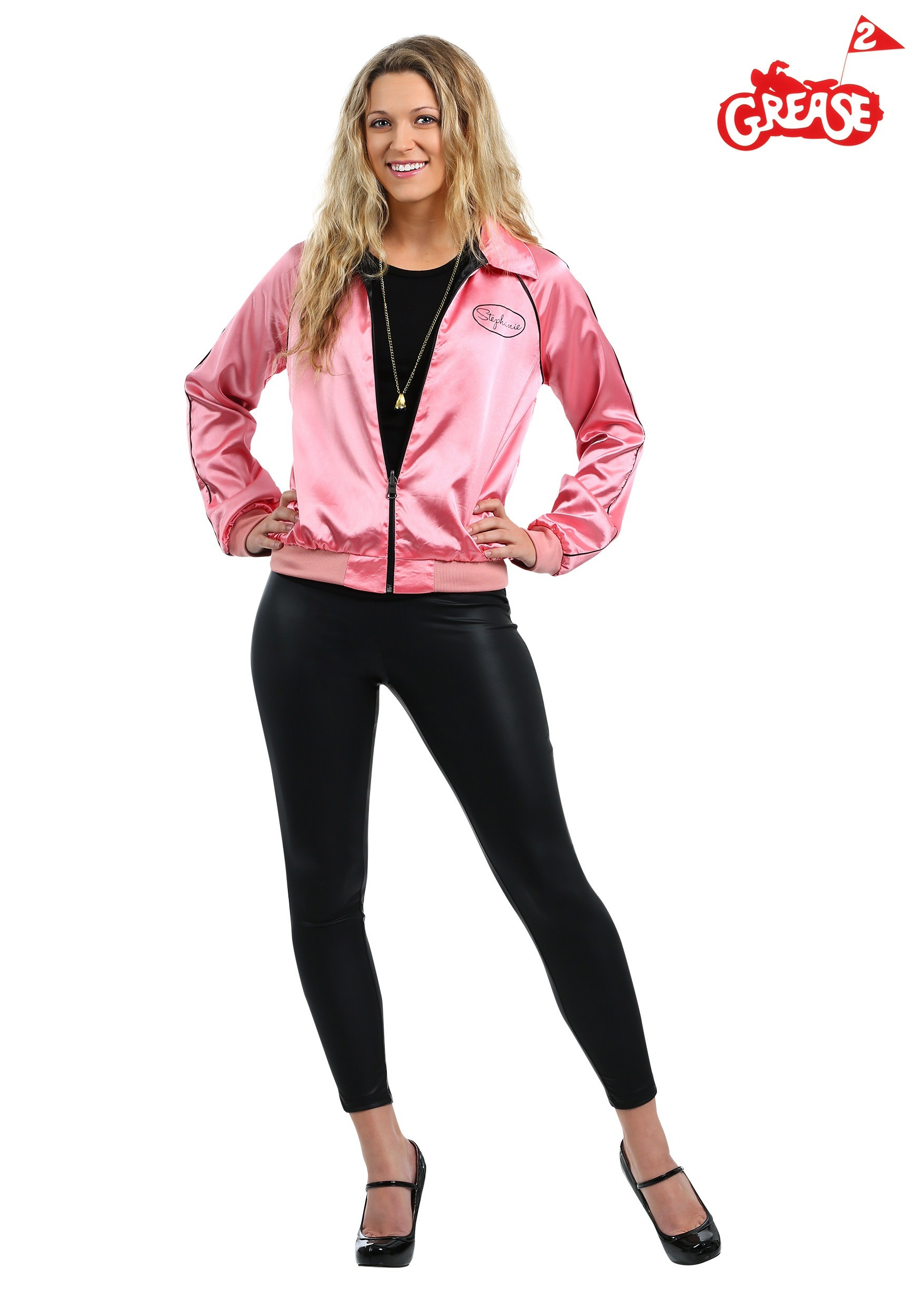 Stephanie S Pink Ladies Jacket Costume From Grease 2