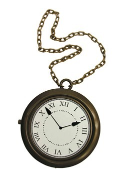 White Rabbit Clock Necklace