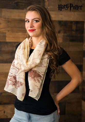 Womens Harry Potter Marauders Map Scarf UPD
