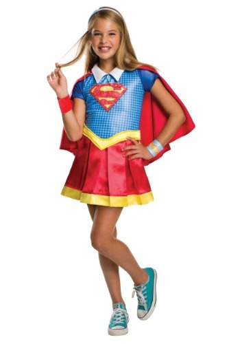 Girls DC Superhero Supergirl Deluxe Costume