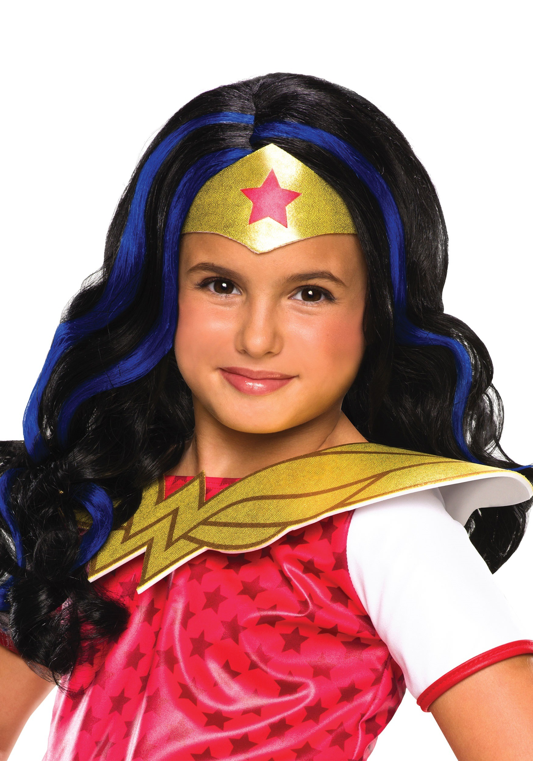 Girls DC Superhero Wonder Woman Wig RU32971