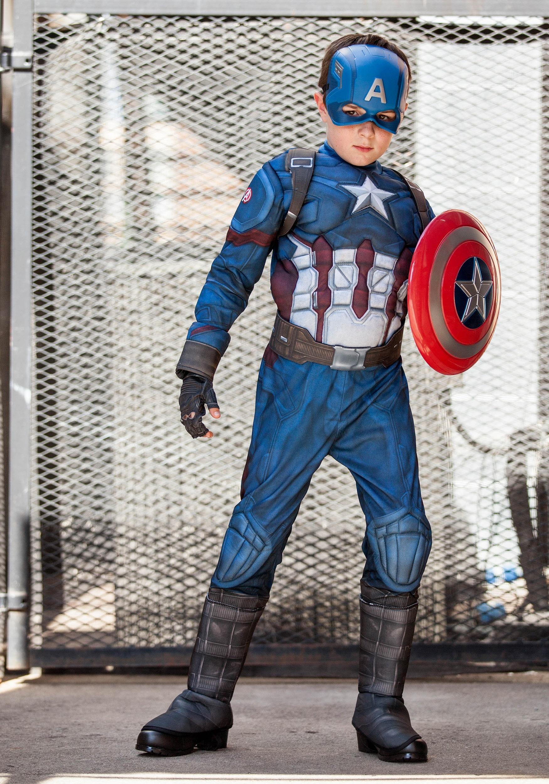 ... Boys Captain America Civil War Deluxe Costume & Captain America Deluxe Costume for Kids