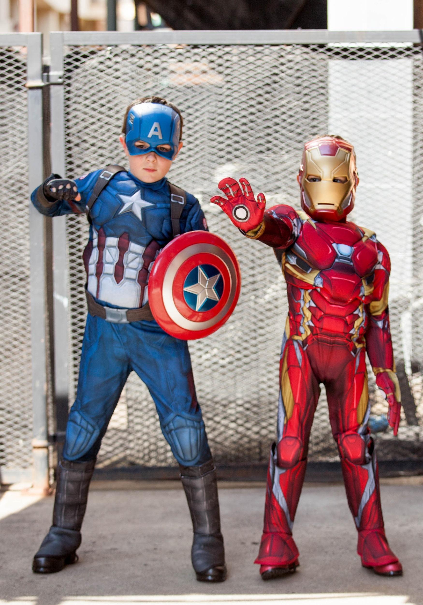 Marvel Civil War Iron Spiderman Comic Book Kids Boys Halloween Costume M