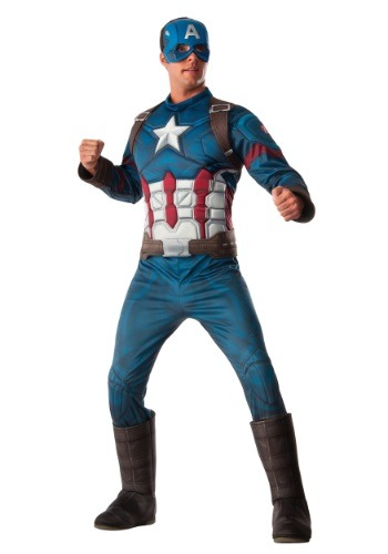 Deluxe Captain America Civil War Men's Costume