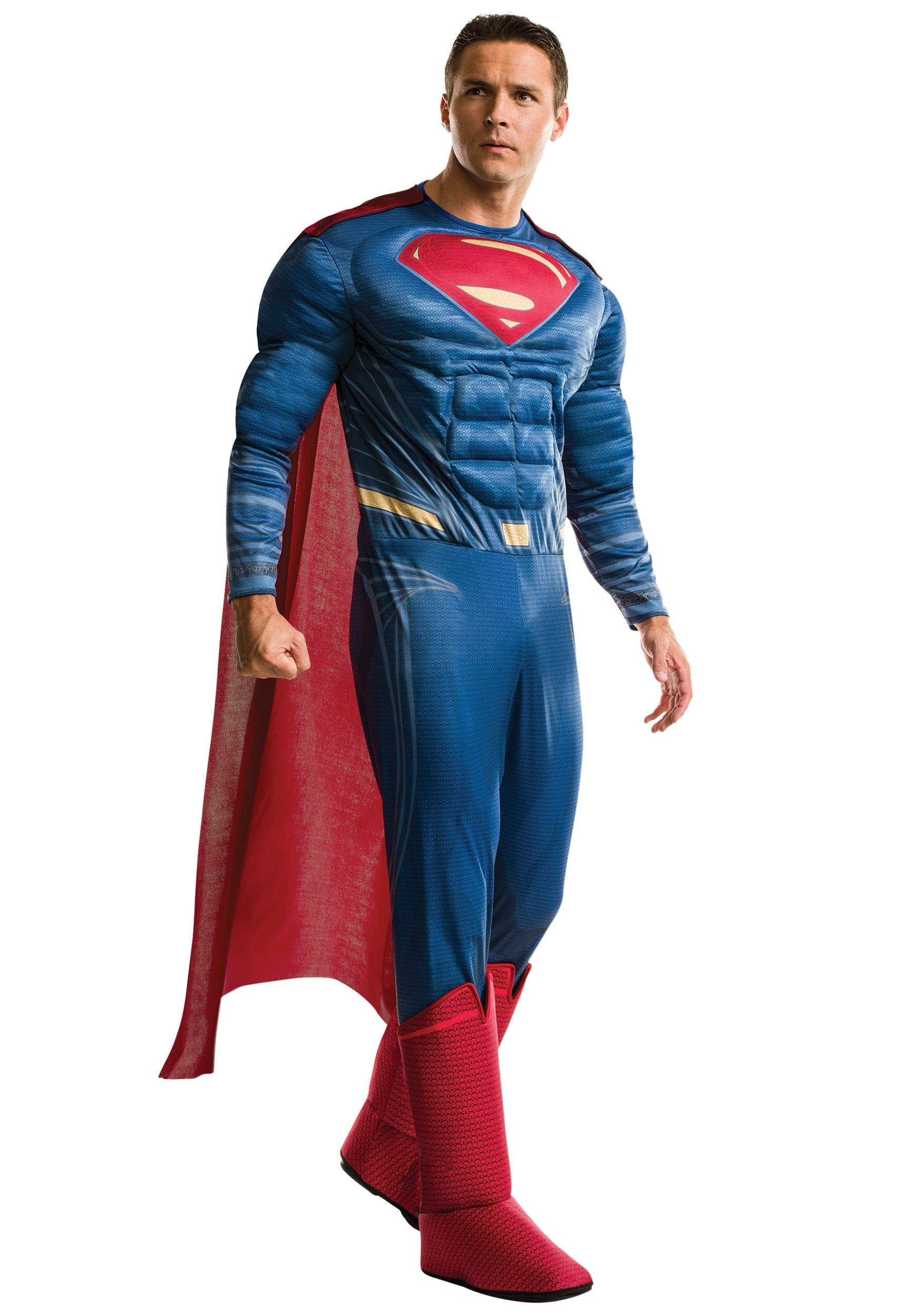 Plus Size Deluxe Dawn of Justice Superman Costume RU17996