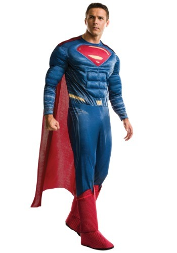 Plus Size Deluxe Dawn of Justice Superman Costume RU17996-PL