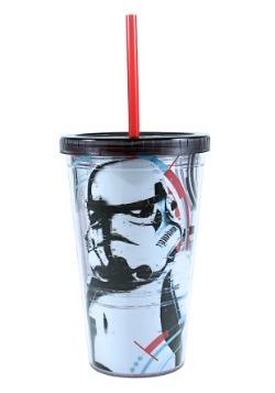 Storm Trooper 16 oz Plastic Cold Cup w Ice Cubes
