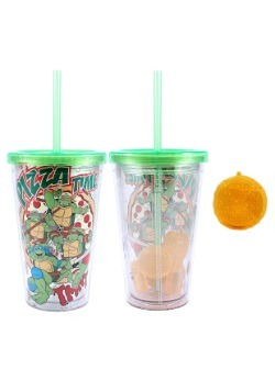 Ninja Turtles 16 oz Plastic Cold Cup w Ice Cubes