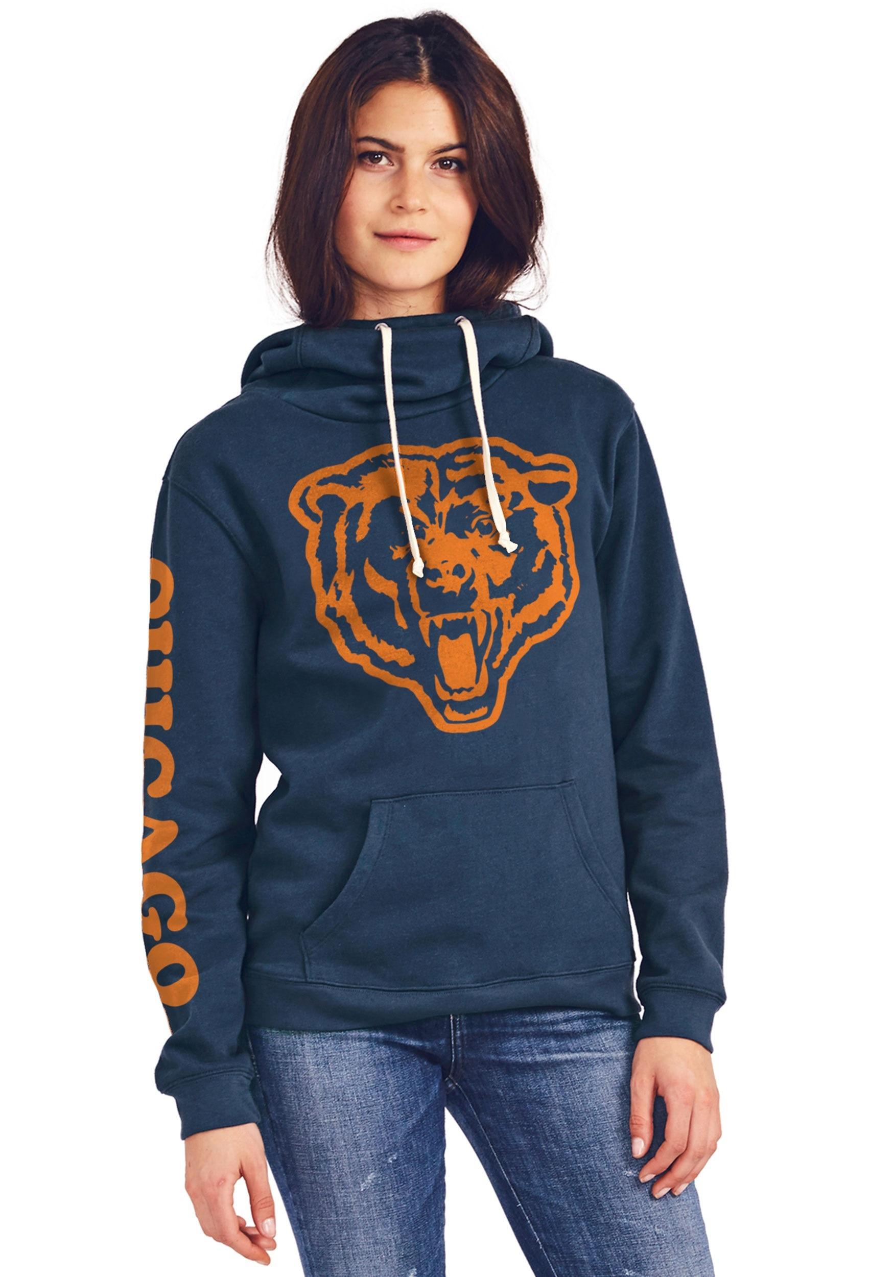 2a7b157b Chicago Bears Women's Cowl Neck Hooded Sweatshirt