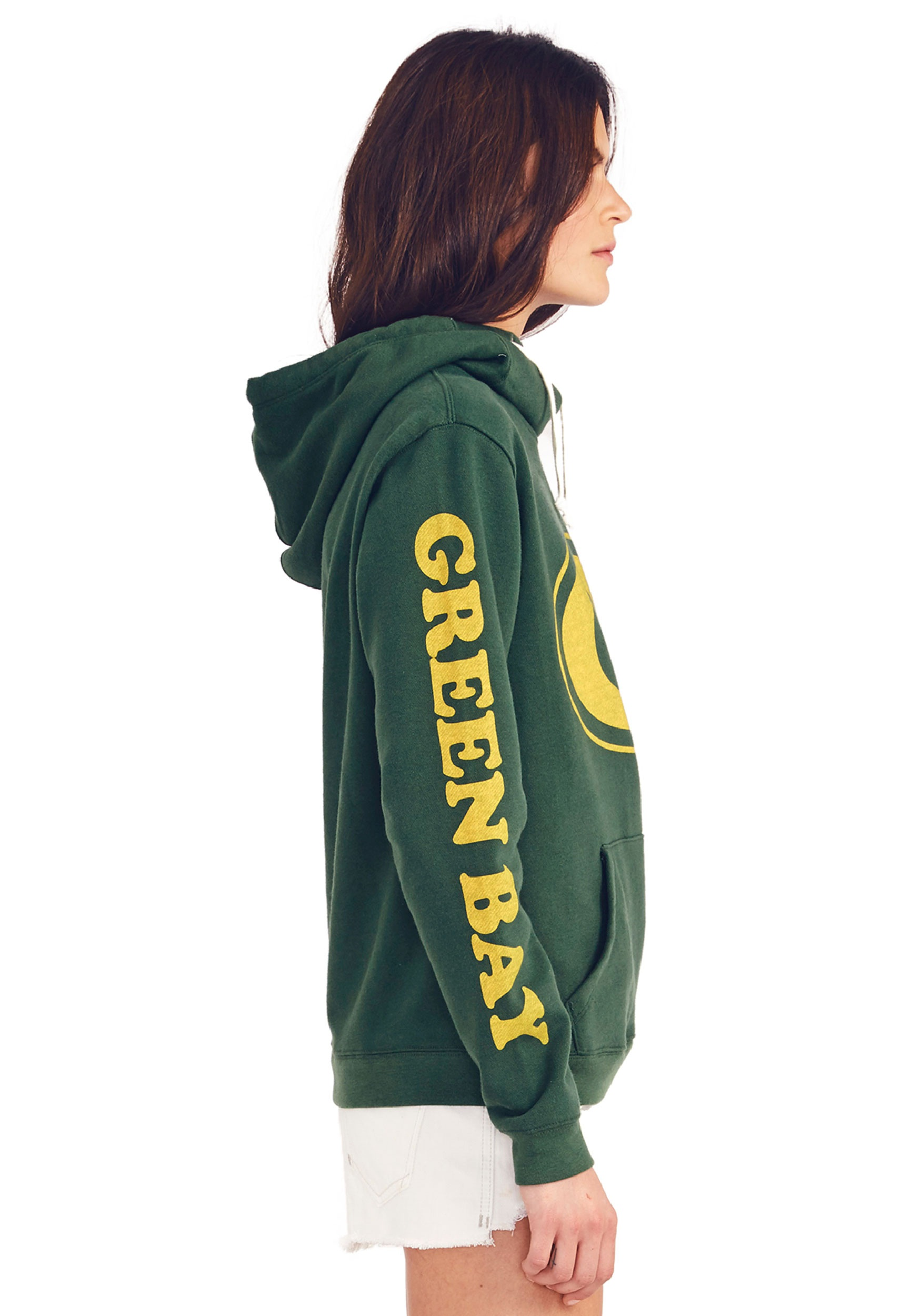 Green Bay Packers Cowl Neck Hoodie for Women