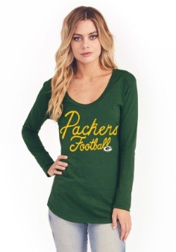 Green Bay Packers Women's Pregame V-Neck T-Shirt