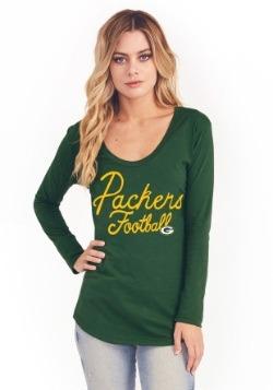 Green Bay Packers Women's Pregame V-Neck T-Shirt