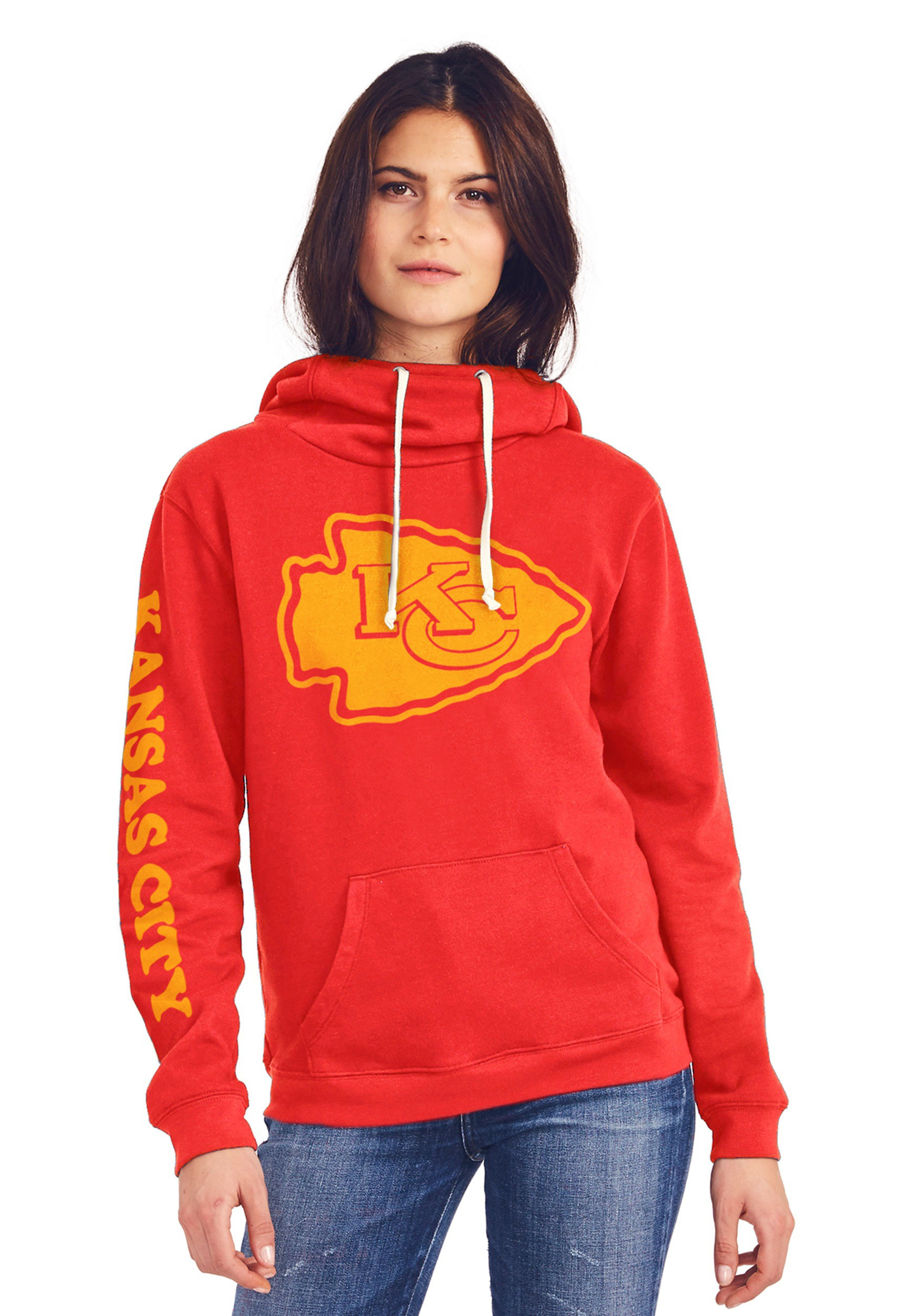 Kansas City Chiefs Women's Cowl Neck Hooded Sweatshirt
