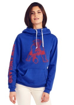 Ladies New England Patriots Cowl Neck Hoodie
