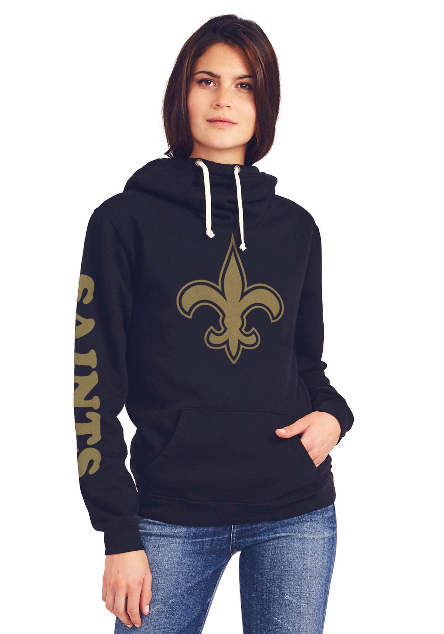 New Orleans Saints Women's Cowl Neck Hooded Sweatshirt